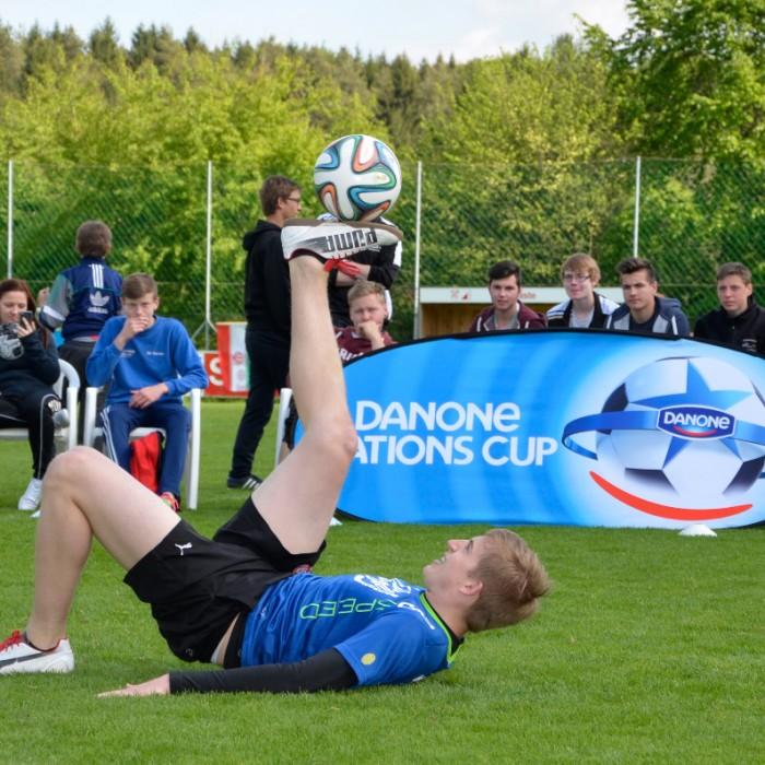 Freestyle Fußball Show für Danone