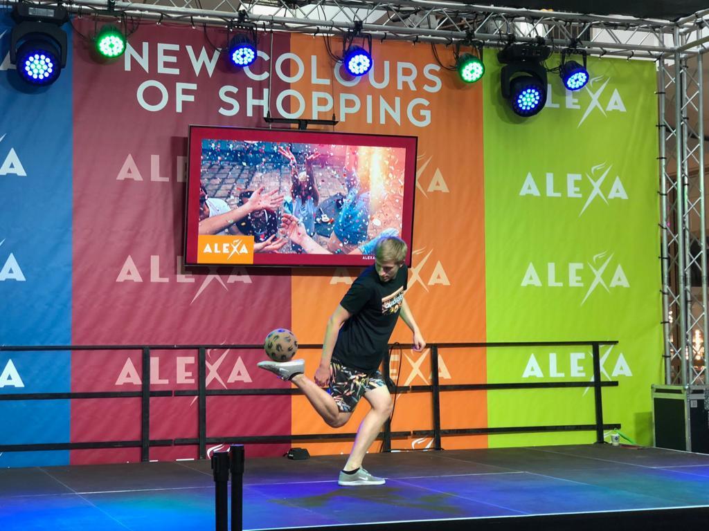 Freestyle Show im Alexa Shopping Center in Berlin